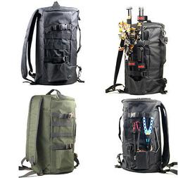 Cylindrical Fishing Tackle Bag 2-color Waterproof Outdoor Po