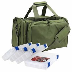 deluxe tackle bag with 4 tackle box