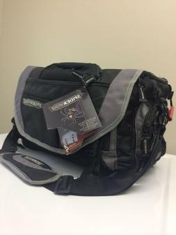 Spiderwire Fishing Black Tackle Bag with four Large Utility