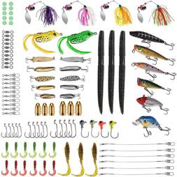 PLUSINNO Fishing Lures Baits Tackle including Crankbaits, Sp