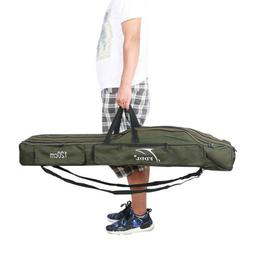 Fishing Rod Bag Pole Tackle Carry Case Holdall Reel Foldable