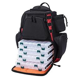 fishing tackle backpack with 4 trays large