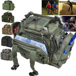 Fishing Tackle Bag Waist Shoulder Tactical Pack 900D Green W