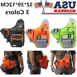 Fishing Tackle Storage Bag Outdoor Shoulder Backpack Cross B