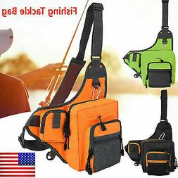 Fishing Bag Tackle Storage Bag Waterproof Cross Body Sling B