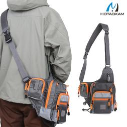 Freshwater Fishing Lure Tackle Bag Pack BackPack Crossbody S
