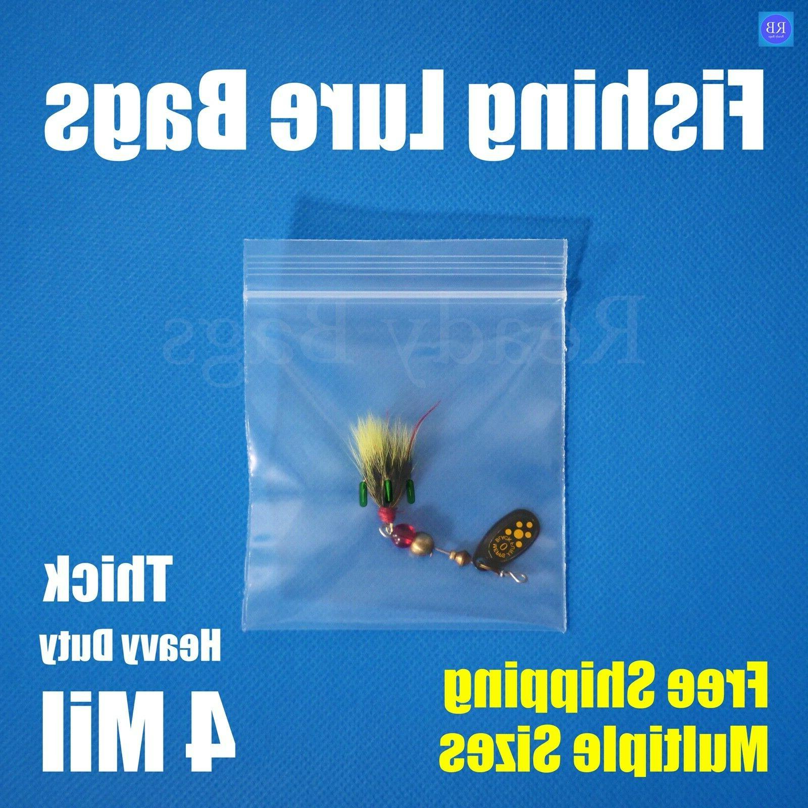 Assorted Clear 4-Mil Zipper Bags HEAVY-DUTY Reclosable Lure