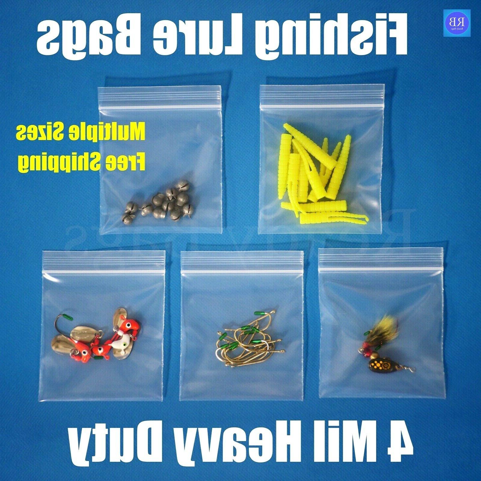 assorted clear 4 mil zipper bags heavy
