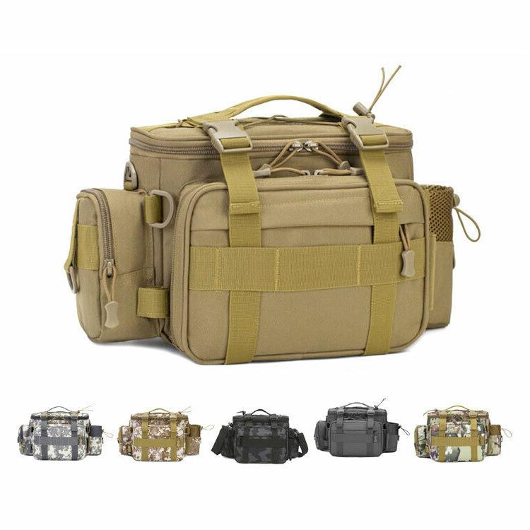 easy access shoulder and waist fishing tackle