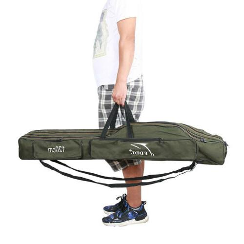 fishing rod bag pole tackle carry case
