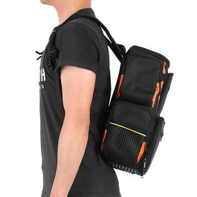 Lixada Backpack Lures Bait Box Storage Pack with 4