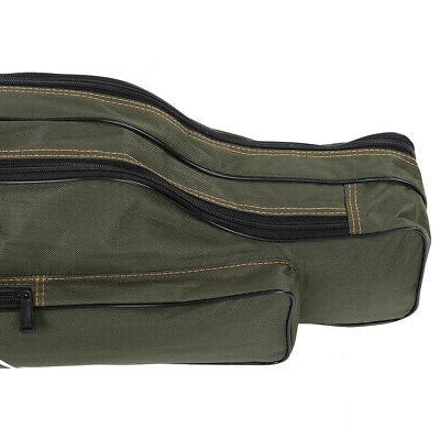 Folding Canvas Pole Storage Bag Gear Tackle 2Layer