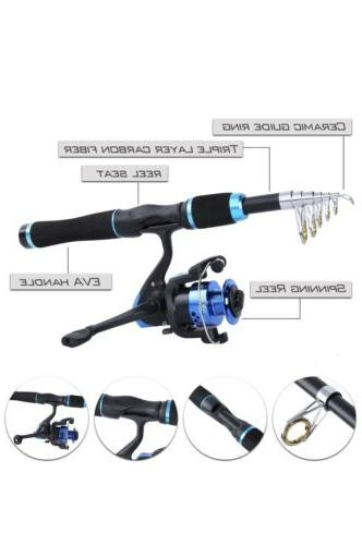 YONGZHI Fishing Pole Kit With Telescopic Tackle Box Lures