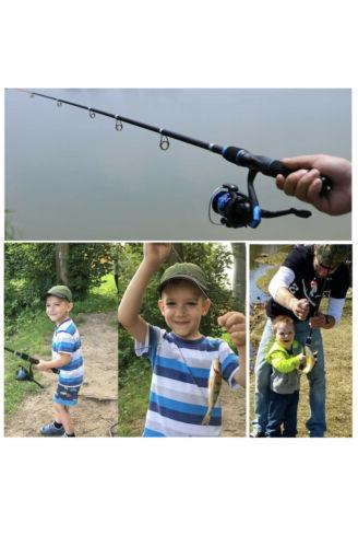 YONGZHI Kids Fishing Pole Kit With Spinning Telescopic Tackle Bag Lures