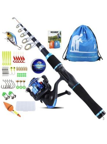 kids fishing pole kit with spinning reel