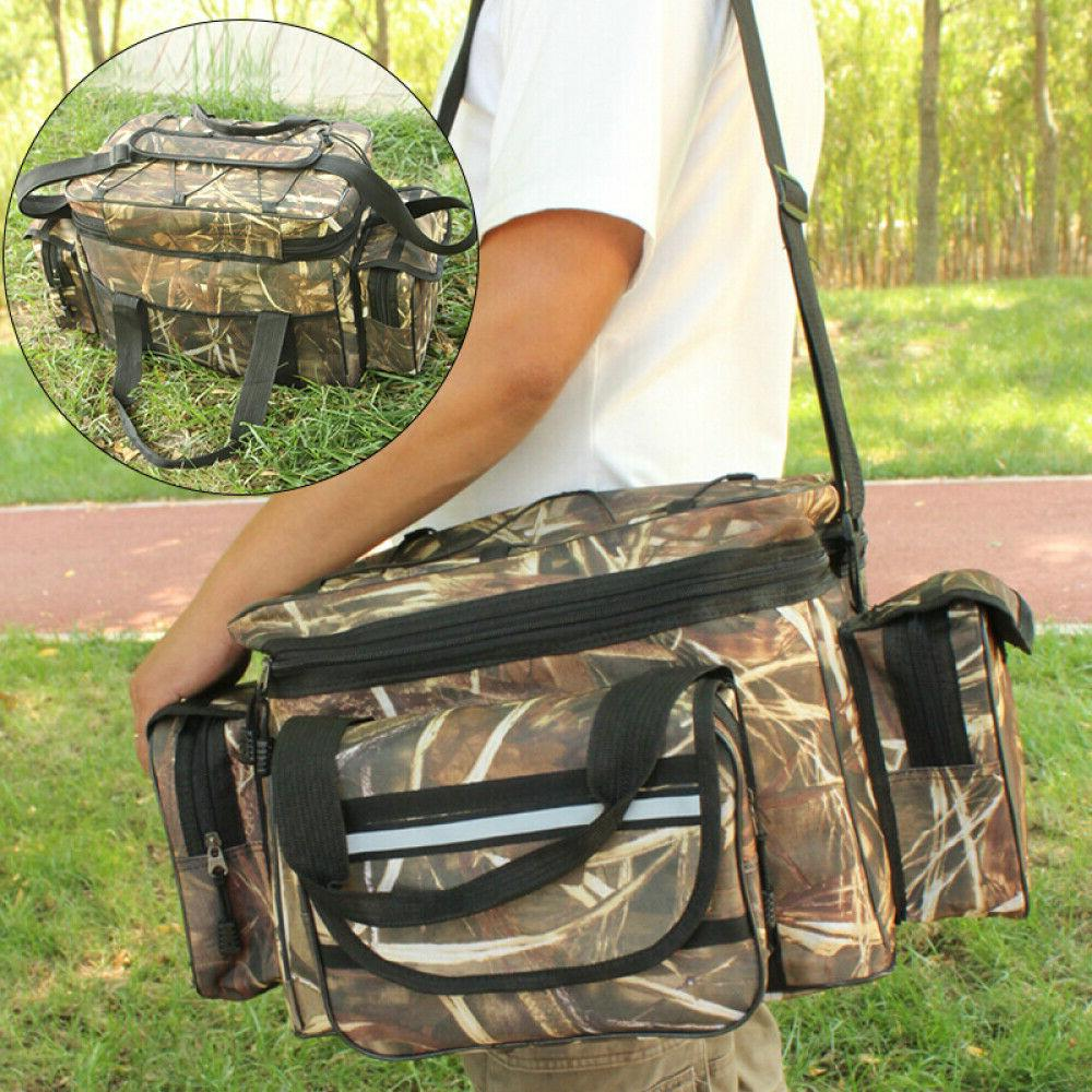 Large Fishing Tackle Bag Boxes Shoulder Strap