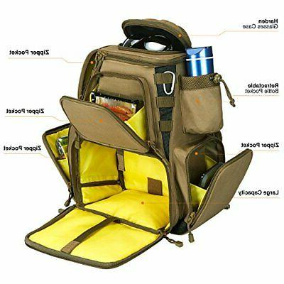 Piscifun Tackle Backpack with Trays Waterproof