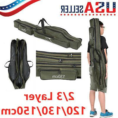 portable fishing rod carrier canvas pole tools