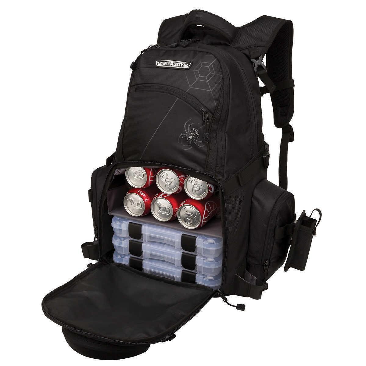 tackle backpack fishing rod carry system adjustable