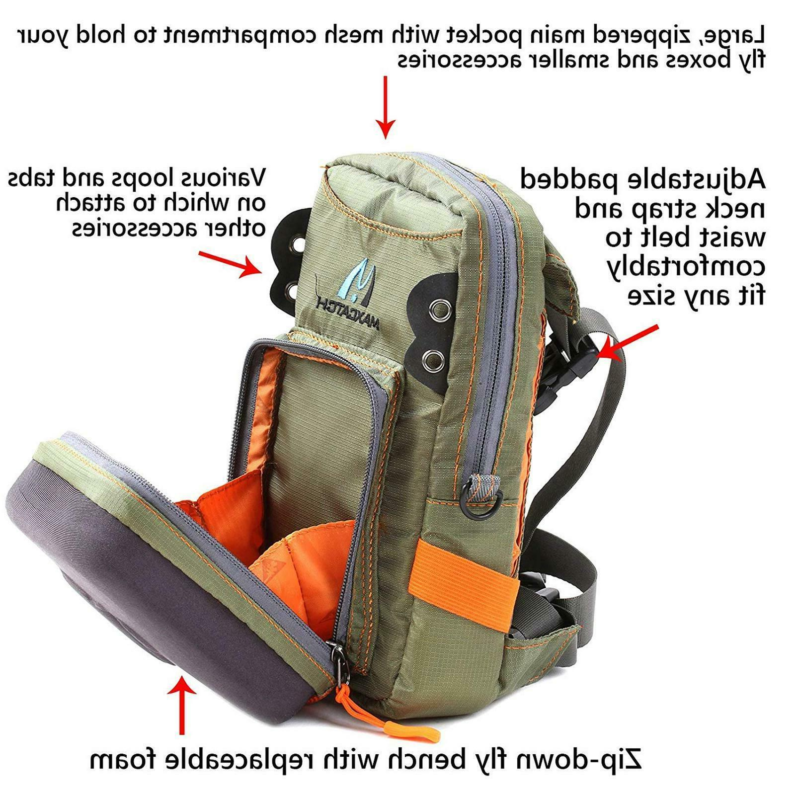 Maxcatch Bag Waist Pack Molded Fly Bench Fly