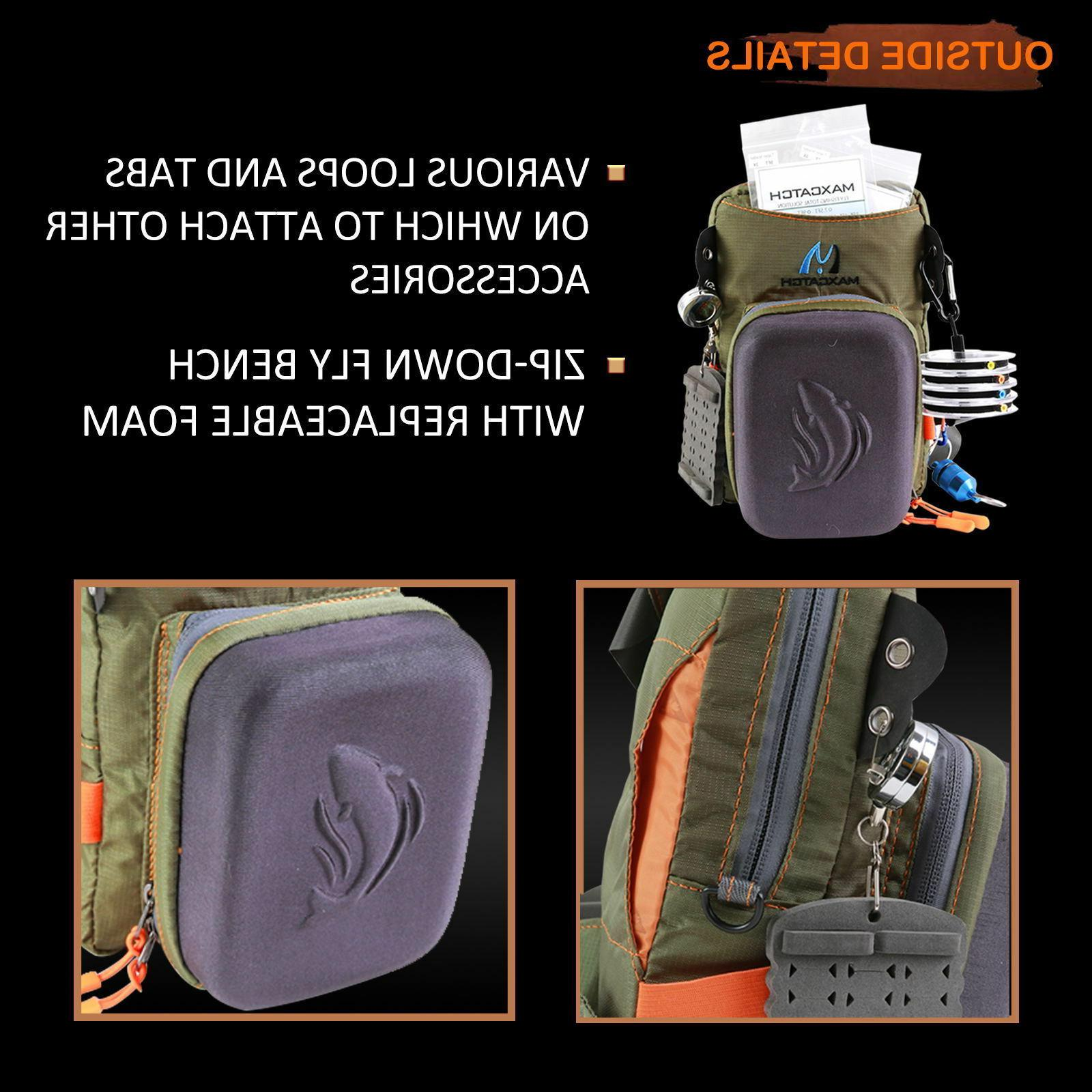 Maxcatch Tackle Chest Bag Waist Molded Fly Fly Fishing