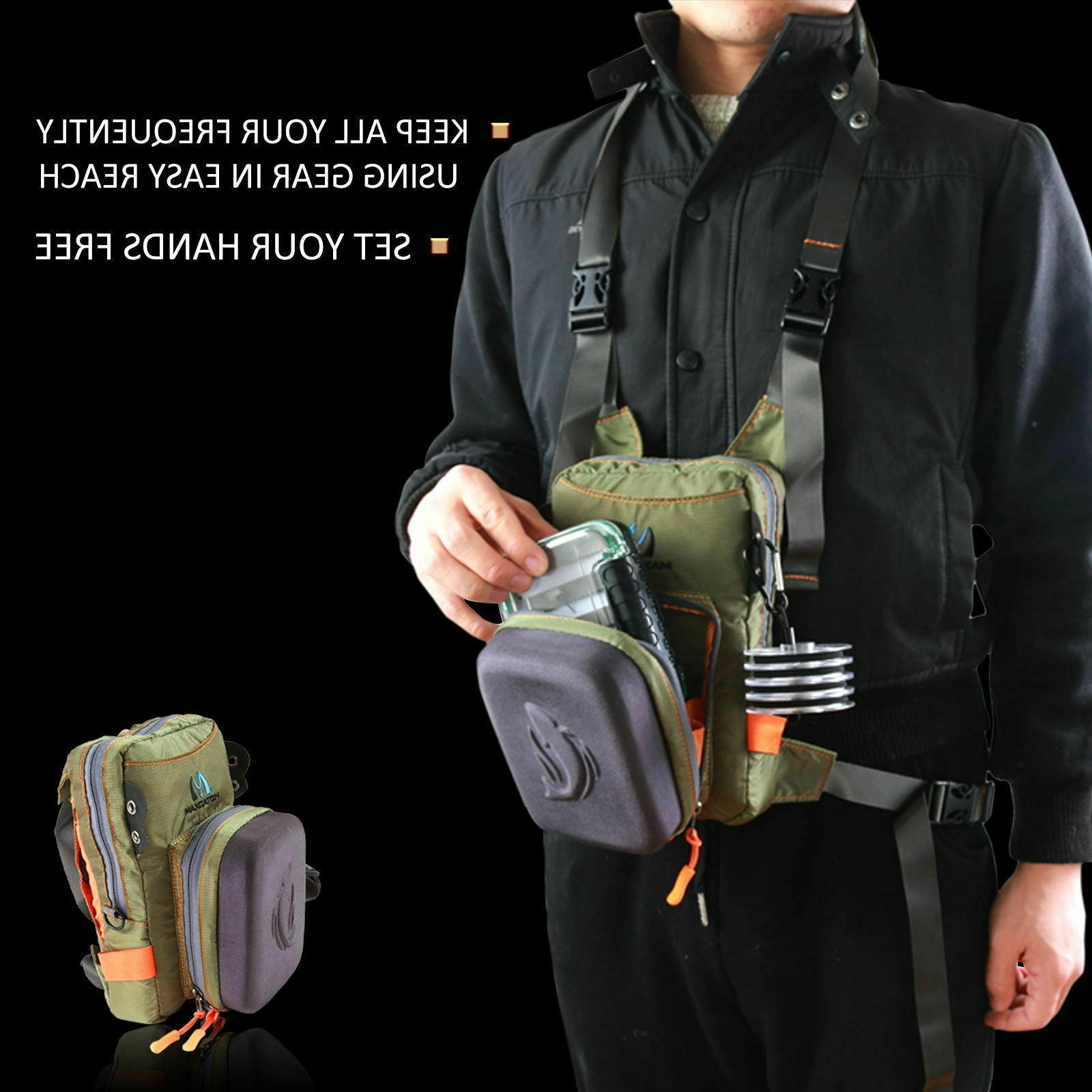 Maxcatch Tackle Bag Waist Pack with Molded Bench Fly Fishing