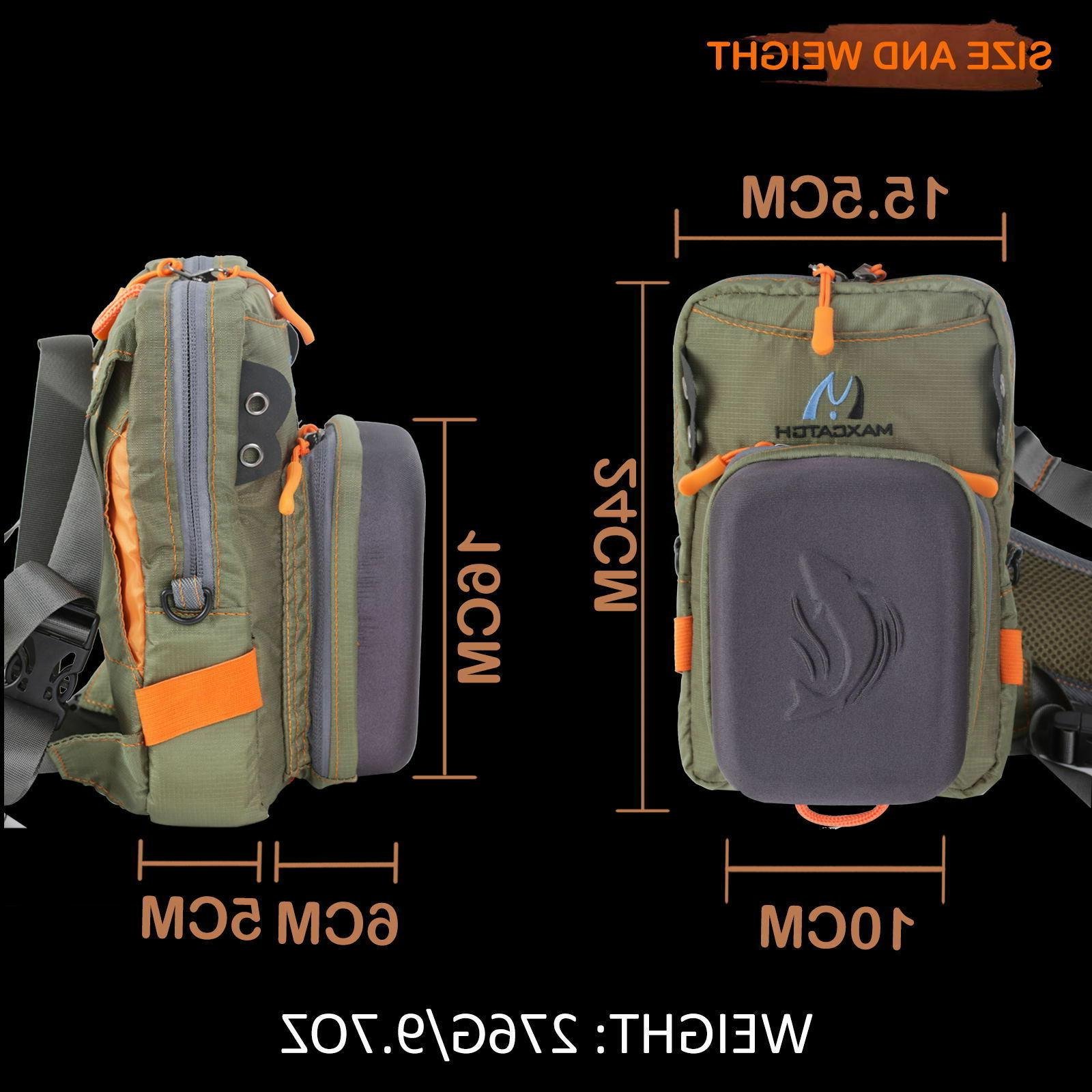 Maxcatch Tackle Chest Bag Pack with Molded Bench For Fly Fishing