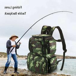 Lixada Fishing Tackle Bag Backpack Fishing Lures Bait Box St