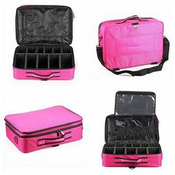 "NEW Large 16"" 40cm PINK FISHING Case Bag Organizer Tackle Ho"
