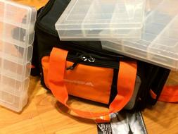 NEW Ozark Trail Bag For Fishing Tackle box With 3 Boxes Shou