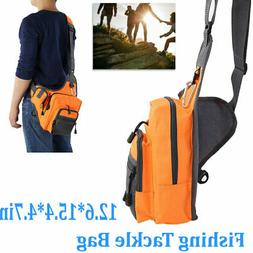 Outdoor Fishing Sling Back Pack Fishing Tackle Bag Lure Stor