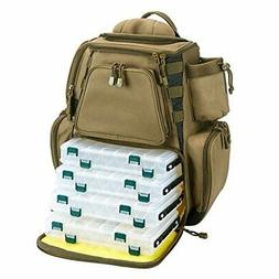 Piscifun Fishing Tackle Backpack with 4 Trays Large Waterpro