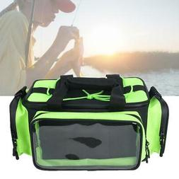 Large Fishing Tackle Bag Waterproof Bait Lure Gear Storage B
