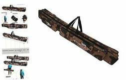 Sougayilang Folding Fishing Rod Case Organizer Pole Storage