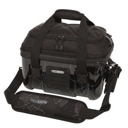Spiderwire Stealth Tackle Bag Black Hardshell With 4 Plastic