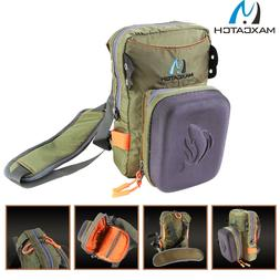 Maxcatch Tackle Bag Chest Bag Waist Pack with Molded Fly Ben